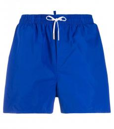 Cobalt Blue Neon Print Swimming Trunks