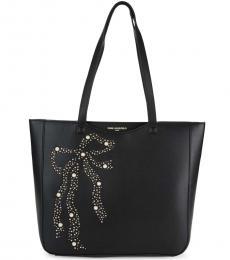Karl Lagerfeld Black Bow Embellished Large Tote