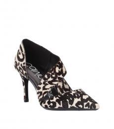 Black White Gella Heels