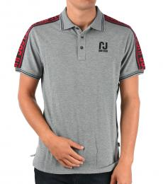 Just Cavalli Grey Stretch Cotton Polo