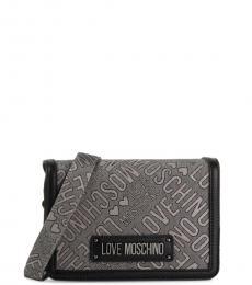 Love Moschino Grey Signature Small Crossbody
