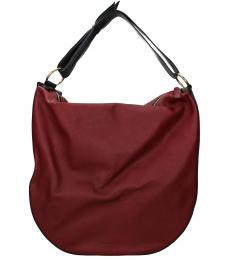 Bordeaux Solid Large Hobo