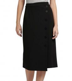Black Button Detail Skirt