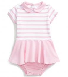Ralph Lauren Baby Girls Pink Ponte Dress