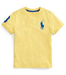 Ralph Lauren Little Boys Oasis Yellow Big Pony T-Shirt