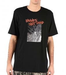 Black Print Just T-Shirt
