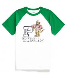 Ralph Lauren Boys White Tigers Baseball T-Shirt