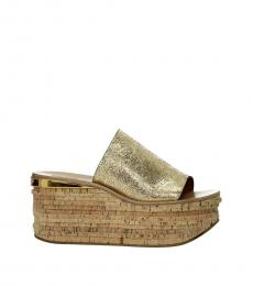 Chloe Gold Camille Wedges