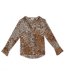 Calvin Klein Leopard Flared High-Low Top