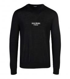 Balmain Black Solid Logo Sweater