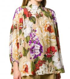 Dolce & Gabbana Multi color Loose Fit Cropped Shirt