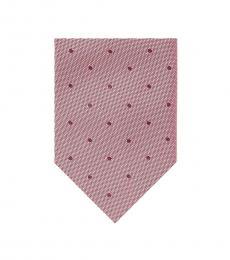 Pink Pindot Tie