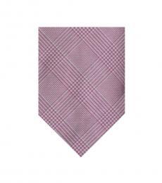 Pink-Silver Modish Tie