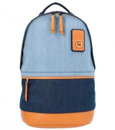 Blue Colorblock Large Backpack