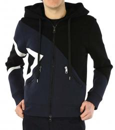 Neil Barrett Navy Blue Modernist Hooded Jacket