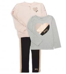 Juicy Couture 3 Piece Jacket/Top/Pants Set (Little Girls)