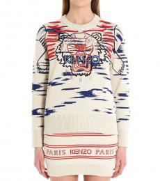 Kenzo Multi color Logo Jacquard Sweater