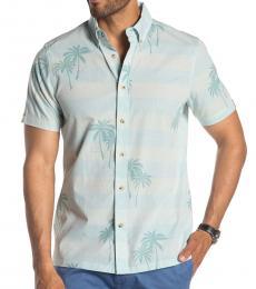 Ben Sherman Light Blue Short Sleeve Fit Hawaiian Shirt