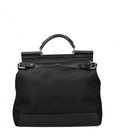 Dolce & Gabbana Black Siciliy Large Duffle Bag