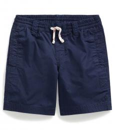 Little Boys Newport Navy Twill Drawstring Shorts