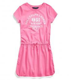 Girls Baja Pink Graphic Tee Dress