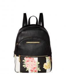 Betsey Johnson Black XO Bern Small Backpack