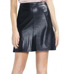 Vince Camuto Black Faux Leather Mini Skirt