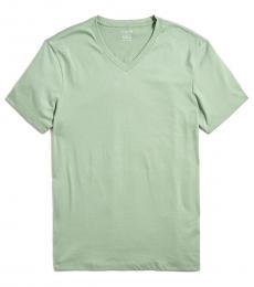 Olive Slim Jersey V-Neck T-Shirt