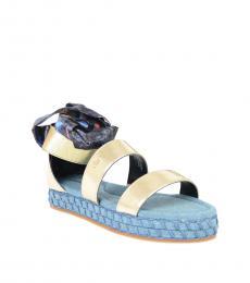 Diesel Girls Gold Ribbon Sandals