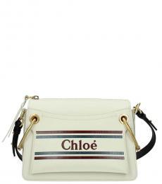 Chloe White Roy Medium Shoulder Bag