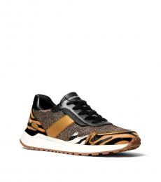Michael Kors Bronze Leopard Print Monroe Sneakers