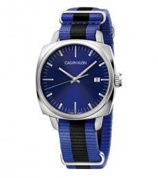 Calvin Klein Blue Logo Blue Dial Watch