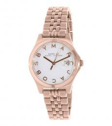 Marc Jacobs Rose Gold Slim Logo Watch