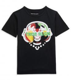 True Religion Boys Black Infrared Smiling Buddha T-Shirt