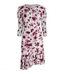 Diane Von Furstenberg Wild Floral Floral Asymmetric Flounce Dress