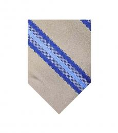 Blue Beige Classic Tie