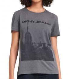 DKNY Dark Grey Cityscape Logo Tee