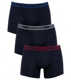 Emporio Armani Navy Blue 3 Pack Boxers