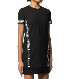 Dsquared2 Black Logo Tape Dress