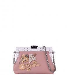 Dolce & Gabbana Natural Vanda Brooches Clutch