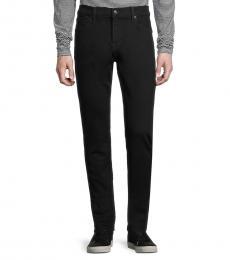7 For All Mankind Black Mid-Rise Skinny-Fit Jeans