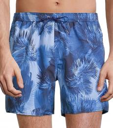 Emporio Armani Blue Boxer-Style Swim Trunks