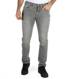 Grey Solid Classic Jeans