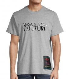 Versace Jeans Grey Logo Graphic Patch T-Shirt