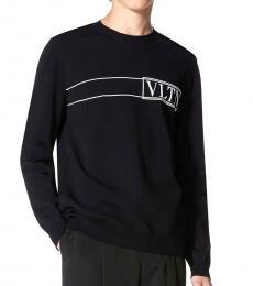 Valentino Garavani Black Front Logo Sweater