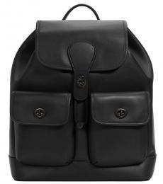 Coach Black Heritage Large Backpack