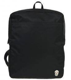 Alexander McQueen Black Harness Large Backpack