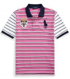 Ralph Lauren Boys Resort Rose Big Pony Crest Polo