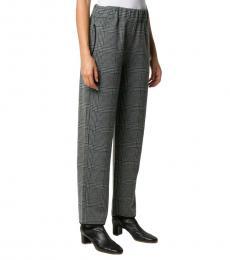 Emporio Armani Grey Glen Check Trousers