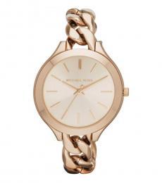 Michael Kors Rose Gold Runway Analog Watch